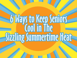 Seniors staying cool in the sun